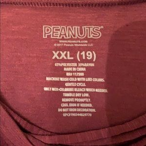 Peanuts Tops - Peanut's Maroon Color Women's T-SHIRT or PJ top